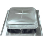 Airhawk 50 In. Mill Galvanized Steel Square Roof Vent Image 1