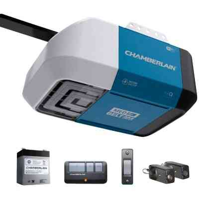 Chamberlain B-373 1/2 HP myQ Smart Belt Drive Garage Door Opener with WiFi and Battery Backup