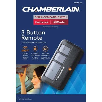 Chamberlain 3-Button Black Garage Door Remote