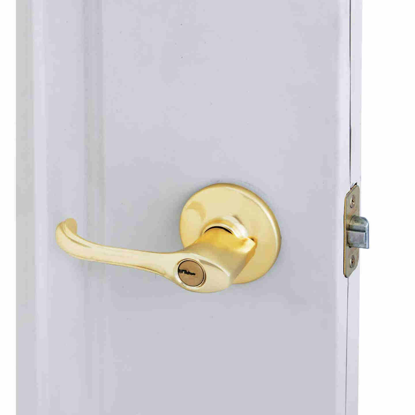 Kwikset Polished Brass Dorian Entry Door Lever  Image 2