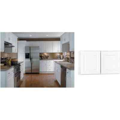 Continental Cabinets Hamilton 30 In. W x 18 In. H x 12 In. D Satin White MapleBridge Wall Kitchen Cabinet