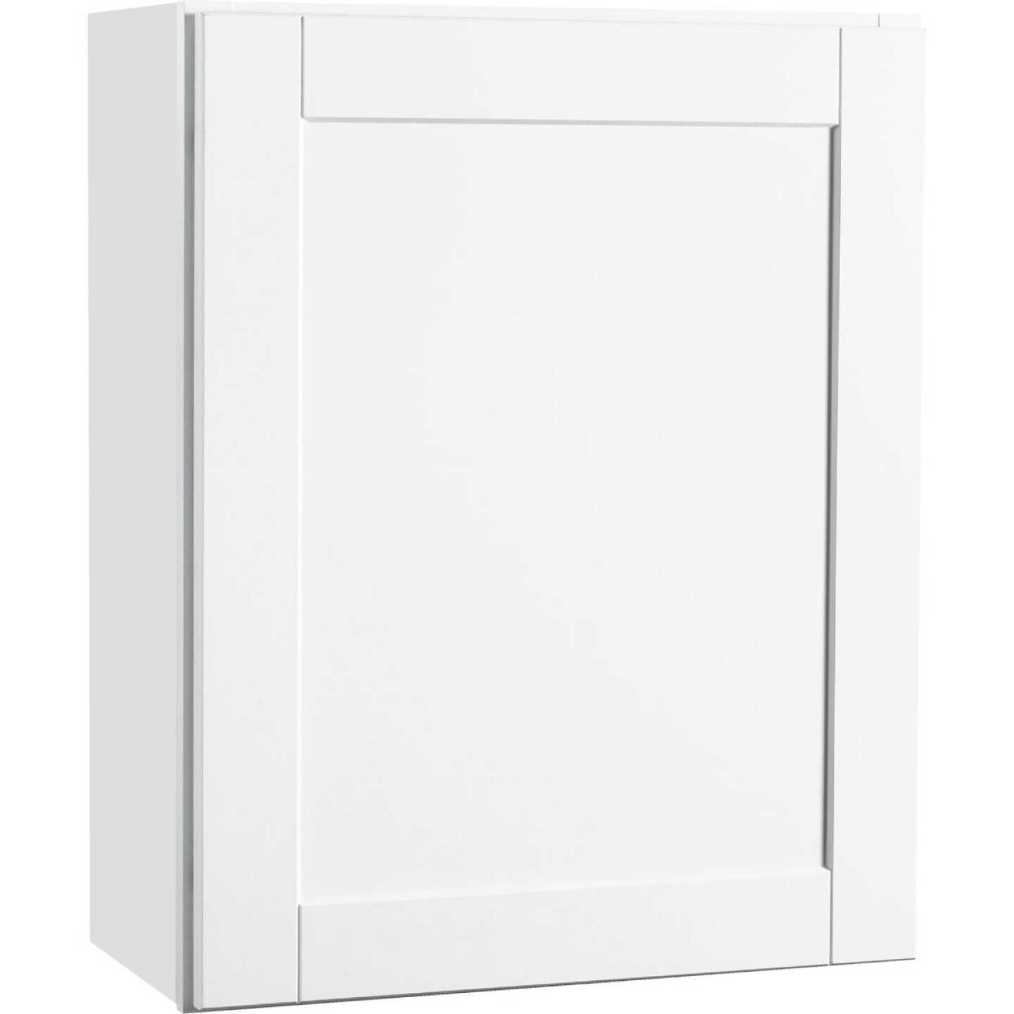 Continental Cabinets Andover Shaker 24 In. W x 30 In. H x 12 In. D White Thermofoil Wall Kitchen Cabinet Image 1