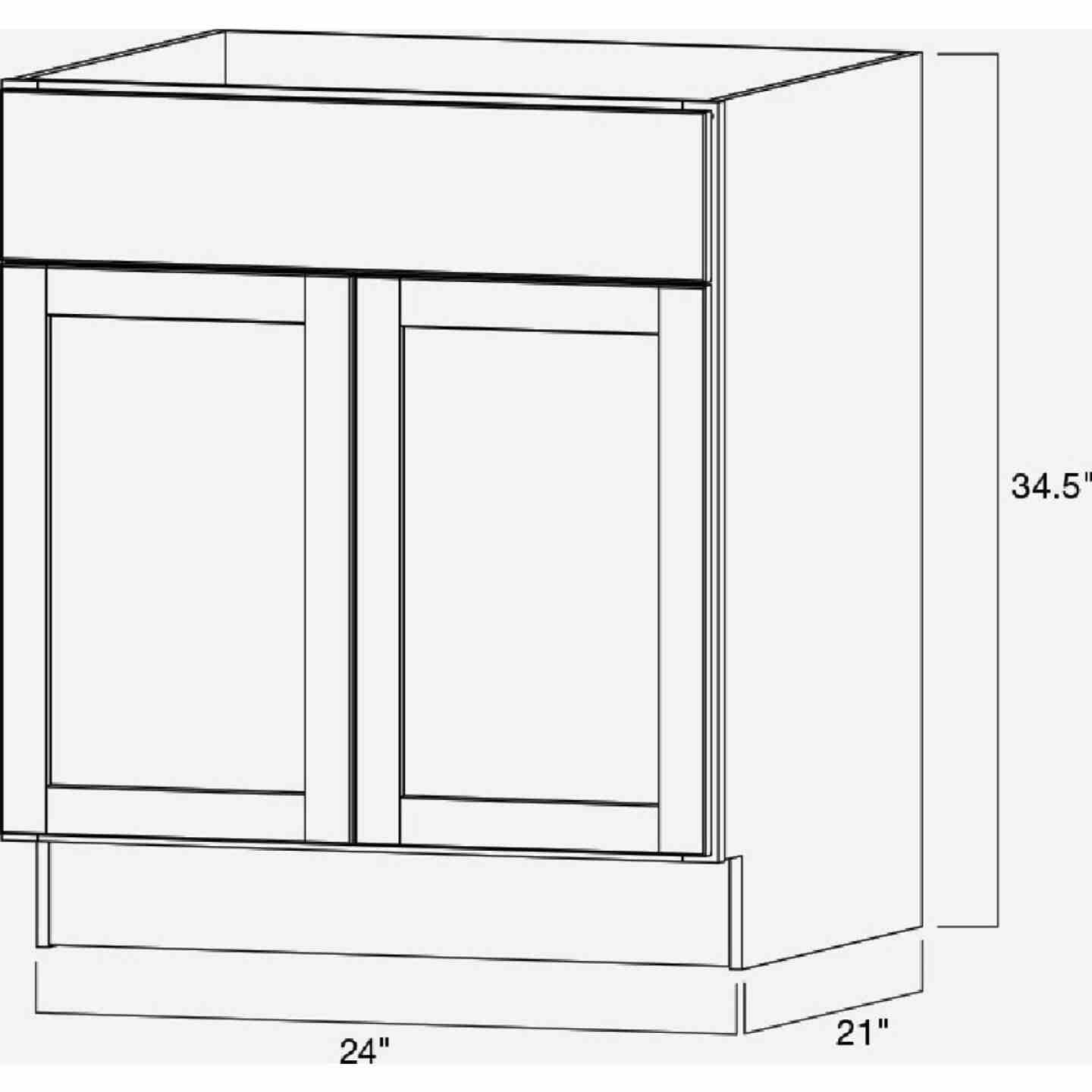 Continental Cabinets Andover Shaker 24 In. W x 34-1/2 In. H x 21 In. D White Vanity Base, 2 Door Image 5