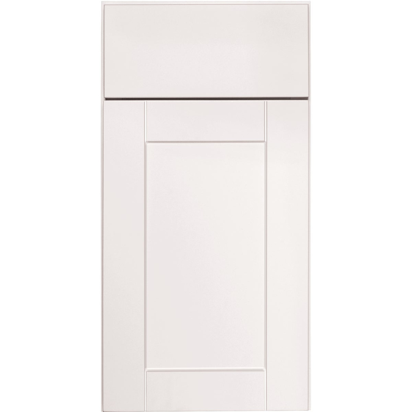 Continental Cabinets Andover Shaker 36 In. W x 34-1/2 In. H x 24 In. D White Thermofoil Sink Base Kitchen Cabinet Image 3
