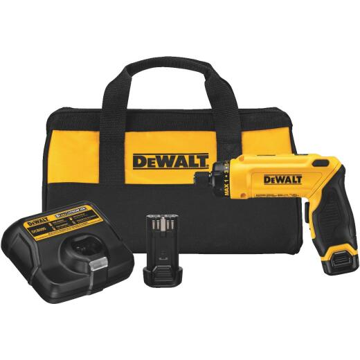DeWalt 8-Volt MAX Lithium-Ion Gyroscopic 1/4 In. Cordless Screwdriver Kit (2-Battery)