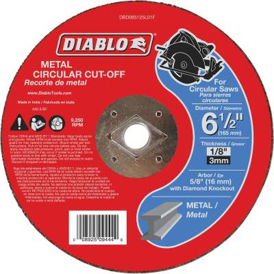 Diablo Type 1 6-1/2 In. x 1/8 In. x 5/8 In. Metal Cut-Off Wheel