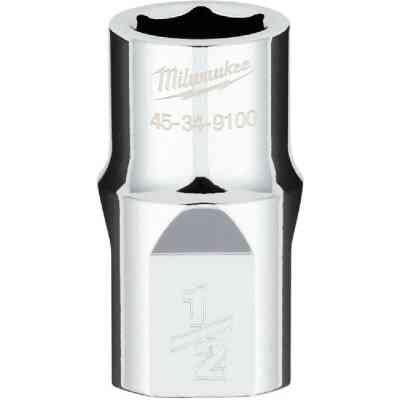 Milwaukee 1/2 In. Drive 1/2 In. 6-Point Shallow Standard Socket with FOUR FLAT Sides