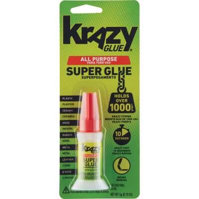Krazy Glue 0.18 Oz. Liquid All-Purpose Super Glue with Brush