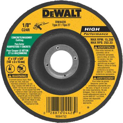 DeWalt HP Type 27, 4 In. Cut-Off Wheel