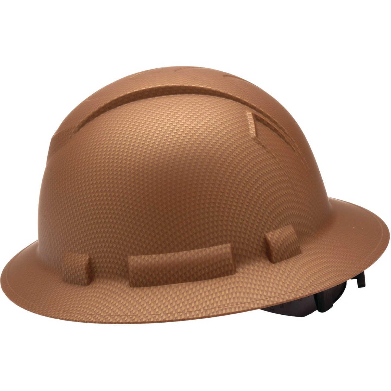 Pyramex Ridgeline Copper Ratcheting Full Brim Hard Hat Image 1
