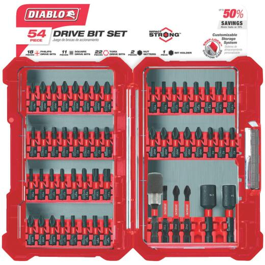 Diablo 54-Piece Impact Screwdriver Bit Set