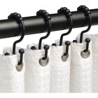 Zenna Home Matte Black Double Roller Shower Curtain Hook (12-Count) Image 2