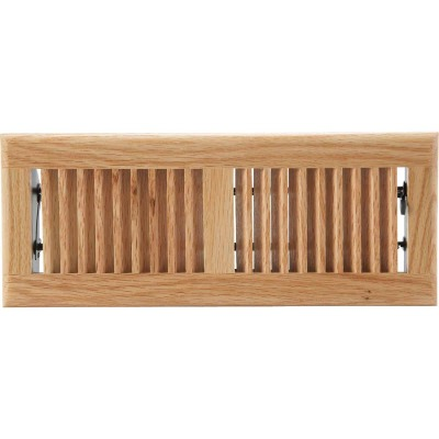 Home Impressions 4 In. x 12 In. Light Oak Floor Register