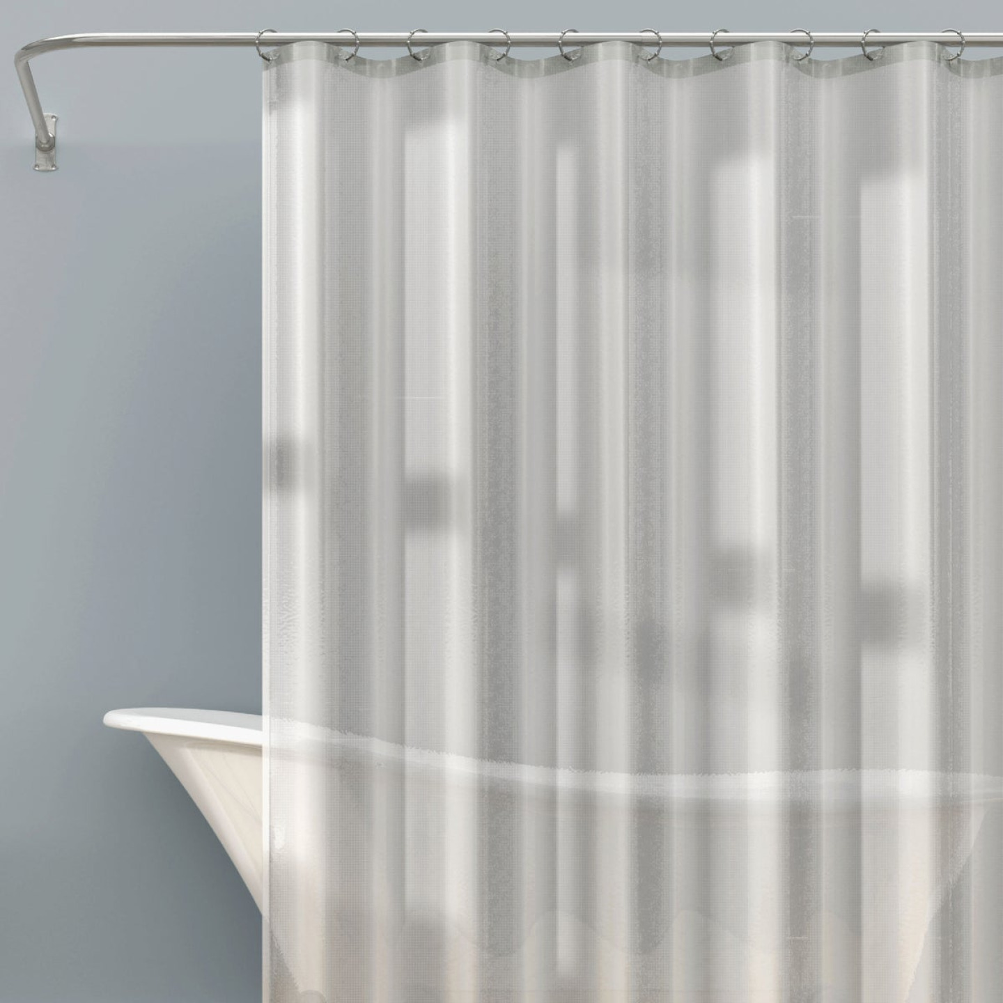 Zenna Home 70 In. x 71 In. Frosty Heavyweight PEVA Shower Curtain Liner Image 1