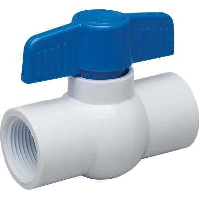 Proline 1-1/2 In. FIP x 1-1/2 In. FIP PVC Schedule 40 Quarter Turn Ball Valve, Non-NSF
