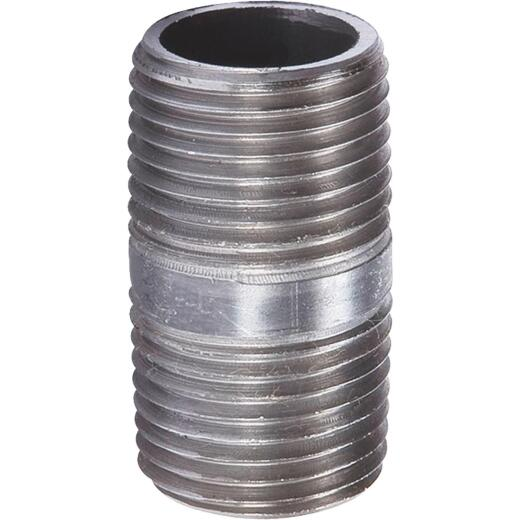 Southland 1/2 In. x Close Welded Steel Galvanized Nipple