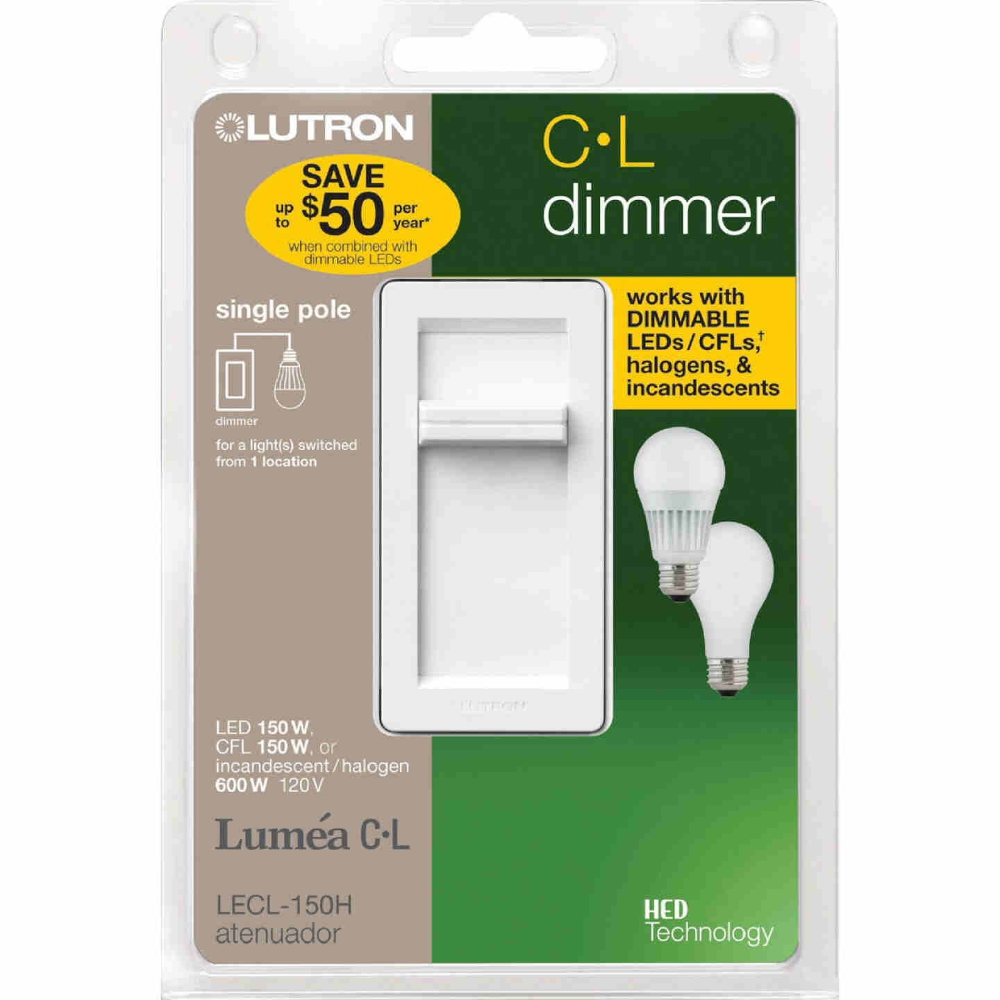 Lutron Lumea CL White 120 VAC Wireless Dimmer Image 2
