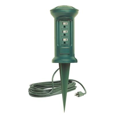 Do it 3-Outlet 13A Outdoor Power Stake with 15 Ft. Cord