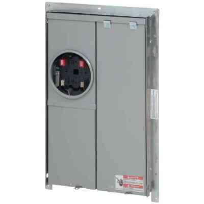 Eaton BR/BD 100A 12-Space 24-Pole Raintight Meter Breaker Panel