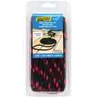 Seachoice 3/8 In. x 15 Ft. Black w/Red Tracer Double Braid Polypropylene Dock Line Image 1
