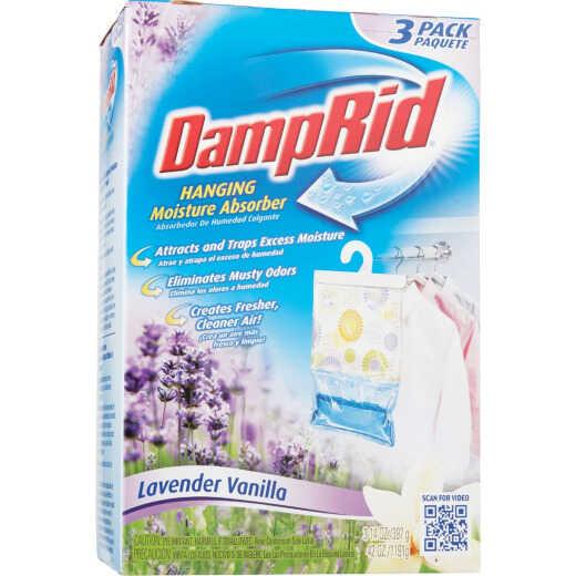 DampRid 42 Oz. Lavender Vanilla Hanging Moisture Absorber (3-Count)