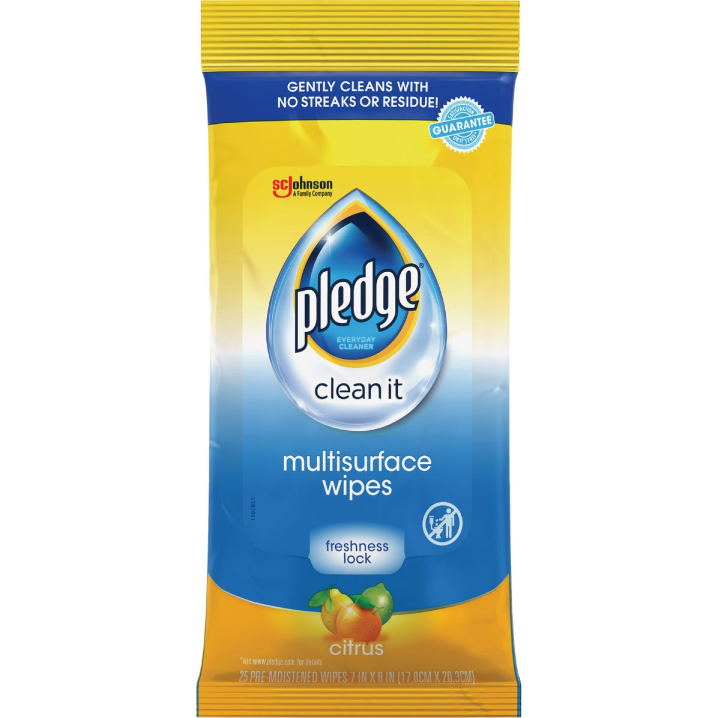 Pledge Citrus Scent Multi-Surface Wipes (25 Count) Image 1