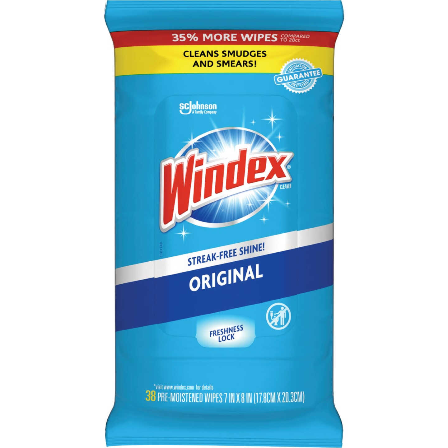 Windex Original Glass Cleaner Wipes (38-Count) Image 1