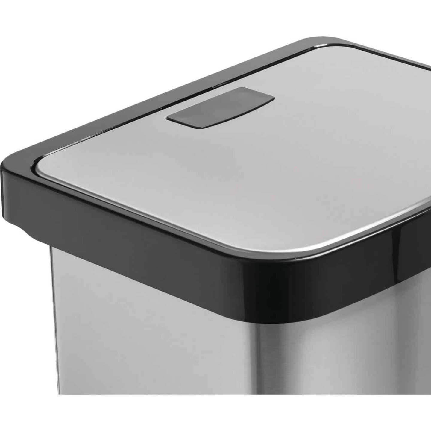 Honey Can Do 50L Stainless Steel Wastebasket Image 3