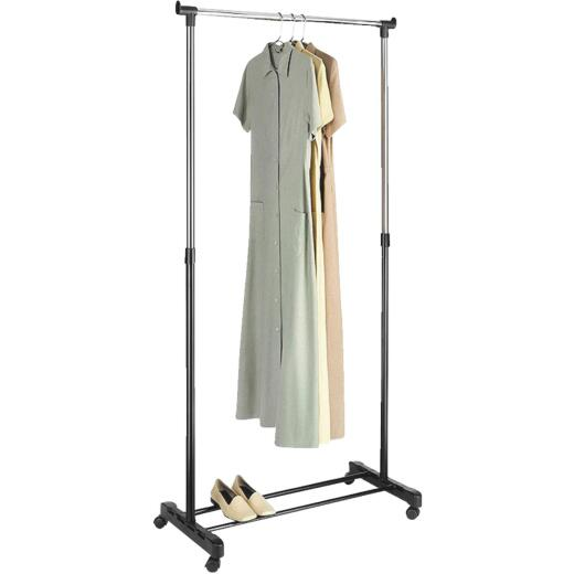 Whitmor Adjustable 16-3/4 In. x 43 In. to 72 In. Garment Rack