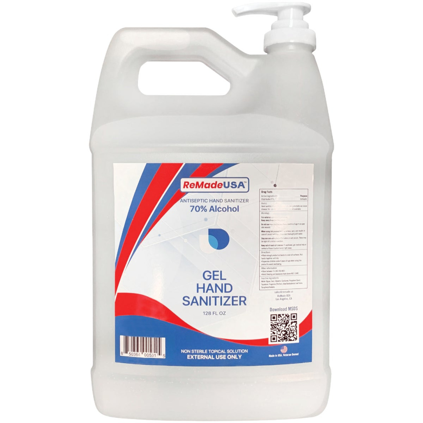 ReMadeUSA 1 Gal. 70% Scented Gel with Pump Top Image 1