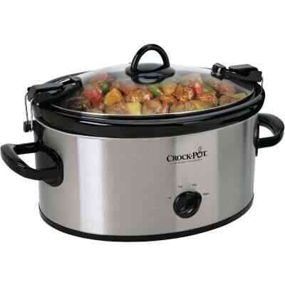 Crock-Pot 6 Qt. Stainless Steel Oval Slow Cooker