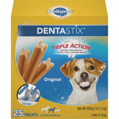 Pedigree Dentastix Small/Medium Dog Original Flavor Dental Dog Treat (25-Pack)