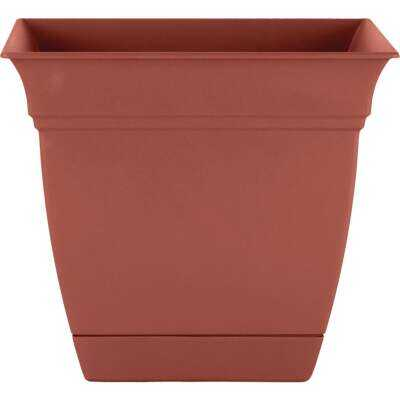 HC Companies Eclipse 10 In. x 10 In. x 8.75 In. Resin Clay Planter