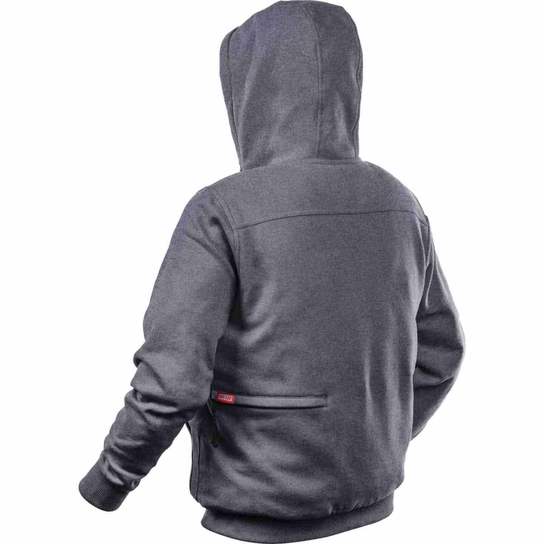 Milwaukee M12 XL Gray Men's Heated Full Zip Hooded Sweatshirt Image 3