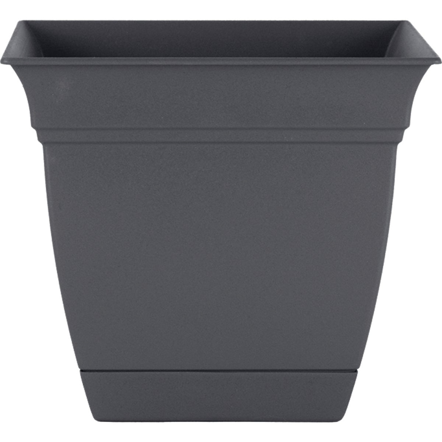 HC Companies Eclipse 12 In. x 12 In. x 10.50 In. Resin Warm Gray Planter Image 1