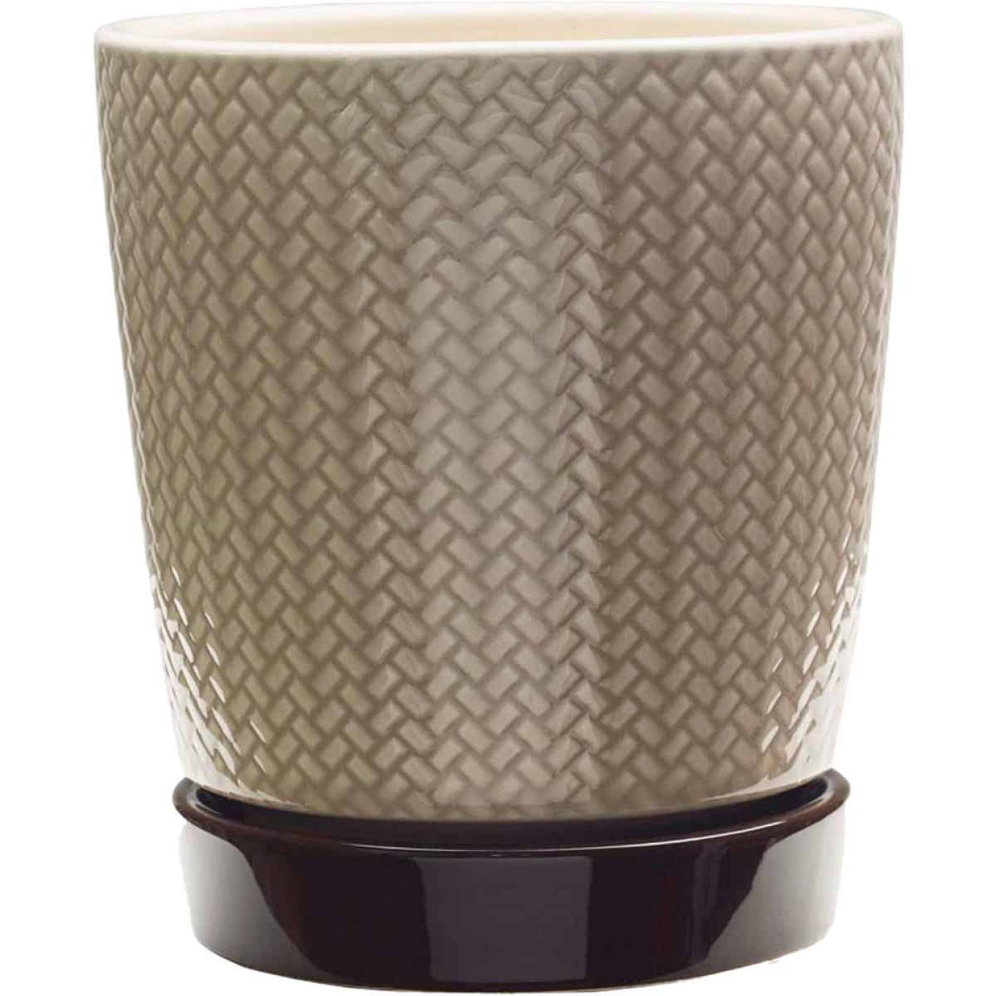 Southern Patio Alice 8.5 In. Ceramic Clayworks Light Brown Planter Image 1