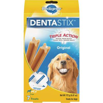 Pedigree Dentastix Large Dog Original Flavor Dental Dog Treat (7-Pack)