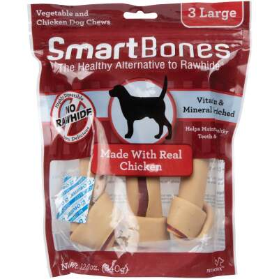 SmartBone Large Chicken Chew Bone (3-Pack)