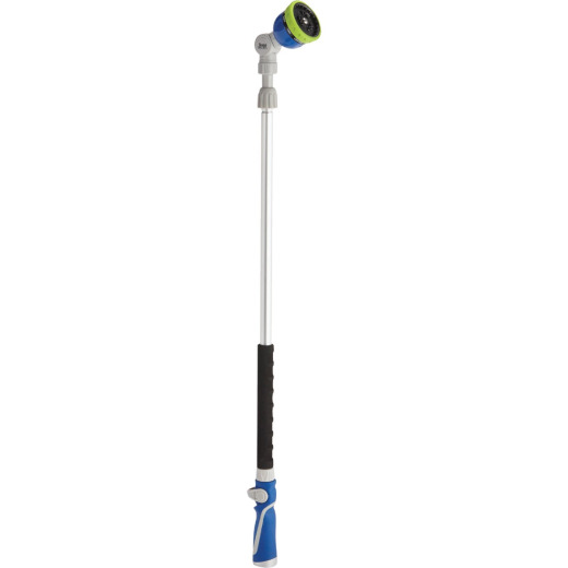 Best Garden 34 In. to 55 In. 9-Pattern Telescoping Water Wand, Blue & Gray