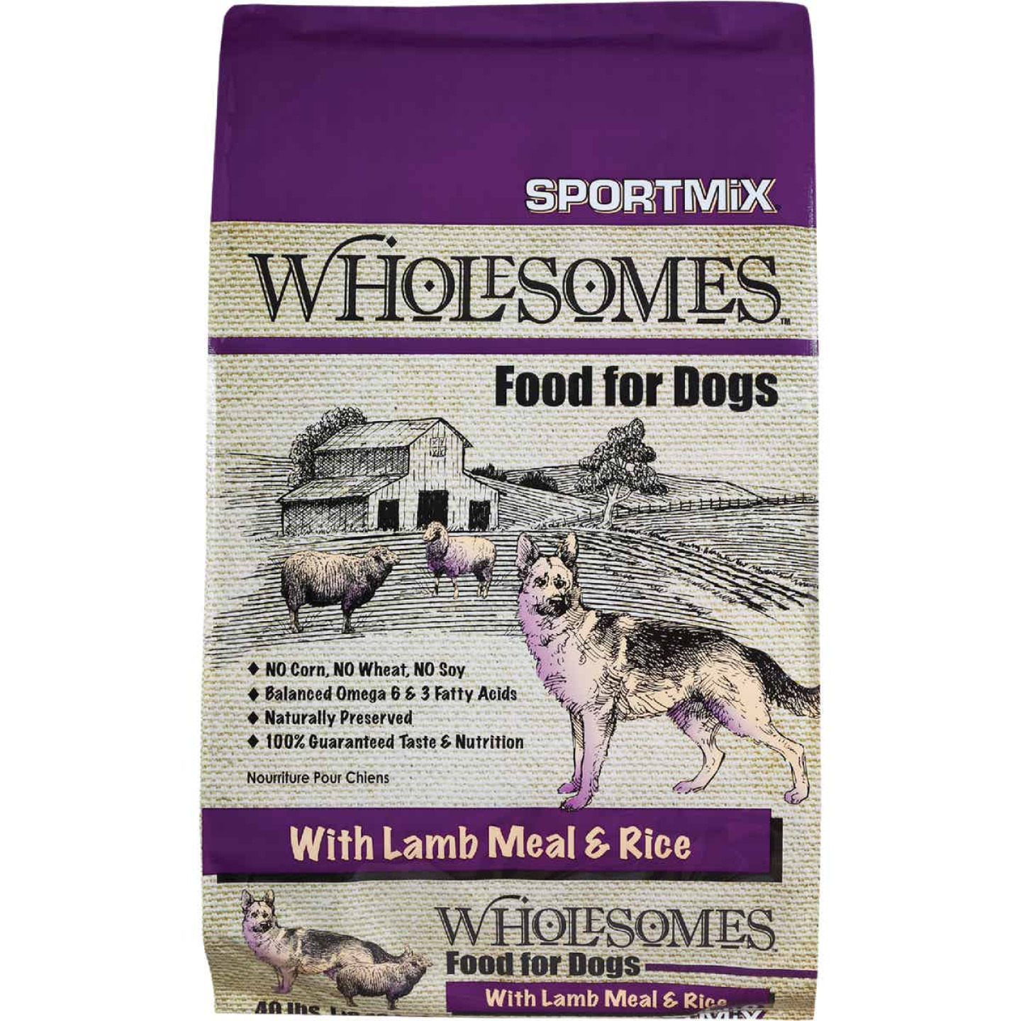 SportMix Wholesomes 40 Lb. Lamb & Fish Flavor Adult Dry Dog Food Image 1