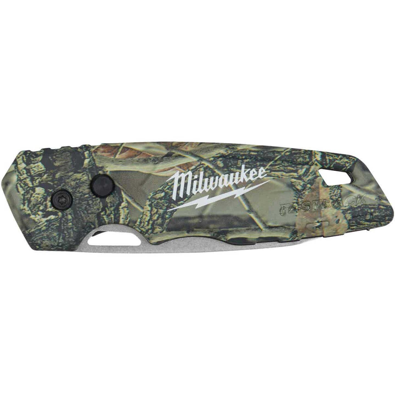 Milwaukee FASTBACK 2.95 In. Camo Folding Knife Image 2