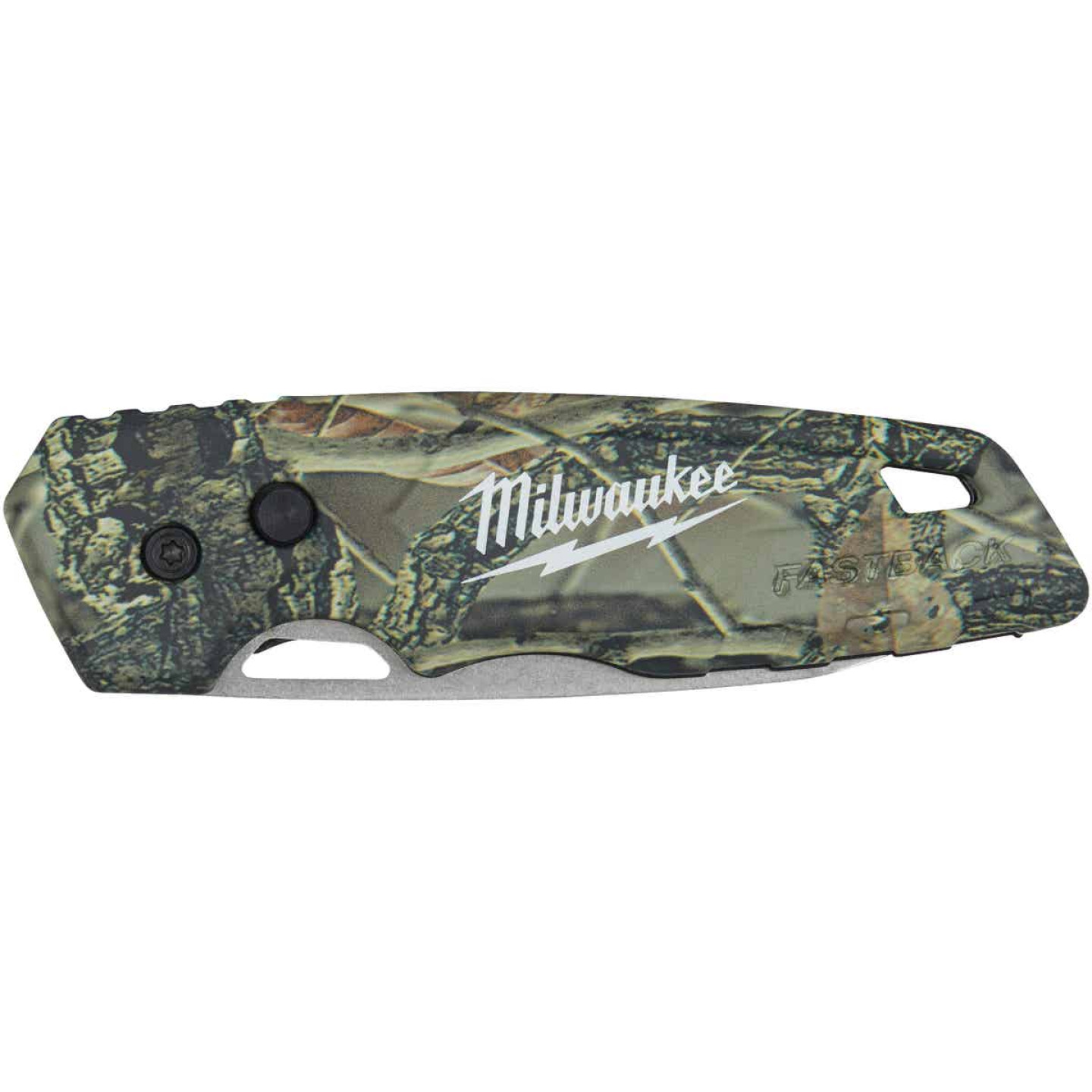 Milwaukee FASTBACK 2.95 In. Camo Folding Knife Image 2