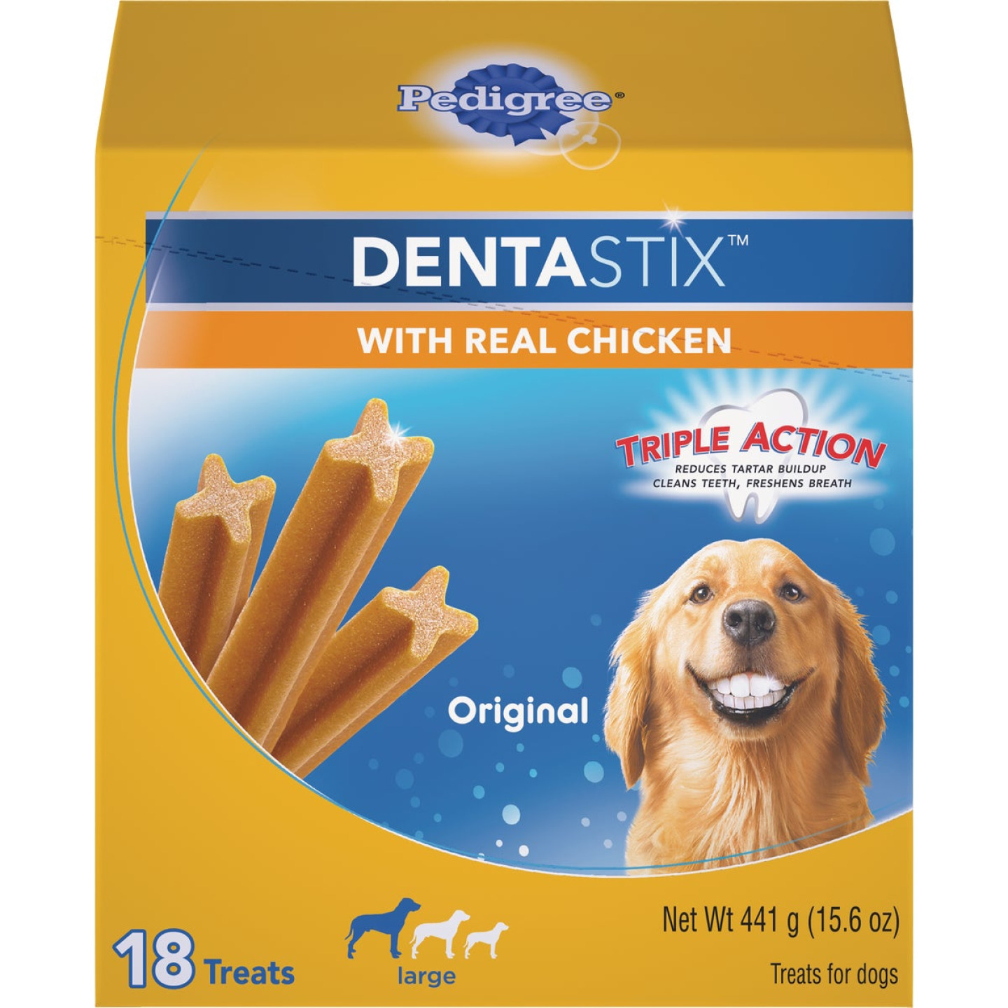 Pedigree Dentastix Large Dog Original Flavor Dental Dog Treat (18-Pack) Image 1