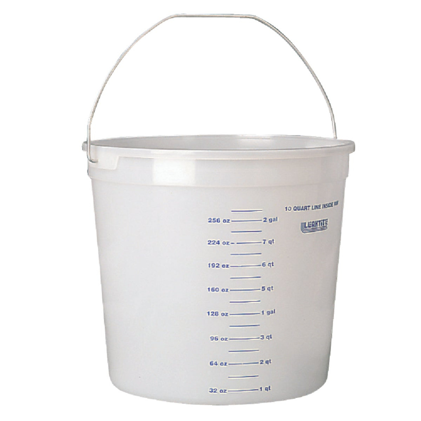 Leaktite 10 Qt. Clear Plastic Pail with Measuring Increments Image 1