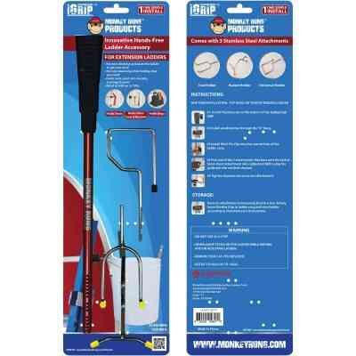 Monkey Rung Monkey Grip Hands-Free Ladder Accessory for Extension Ladder