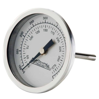 Traeger Analog 3-1/2 In. Stainless Steel Dome Thermometer