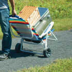 Rio Brands Transporter 5-Position Striped Steel Folding Beach Chair Image 2