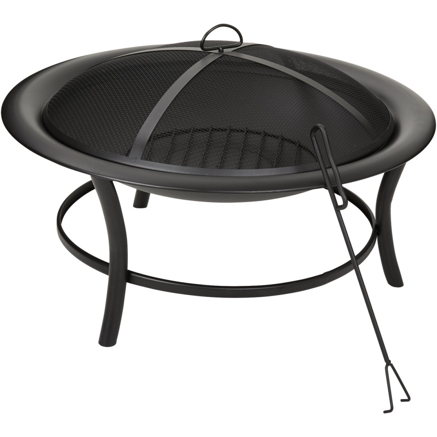 Outdoor Expressions 30 In. Round Steel Fire Pit Image 1