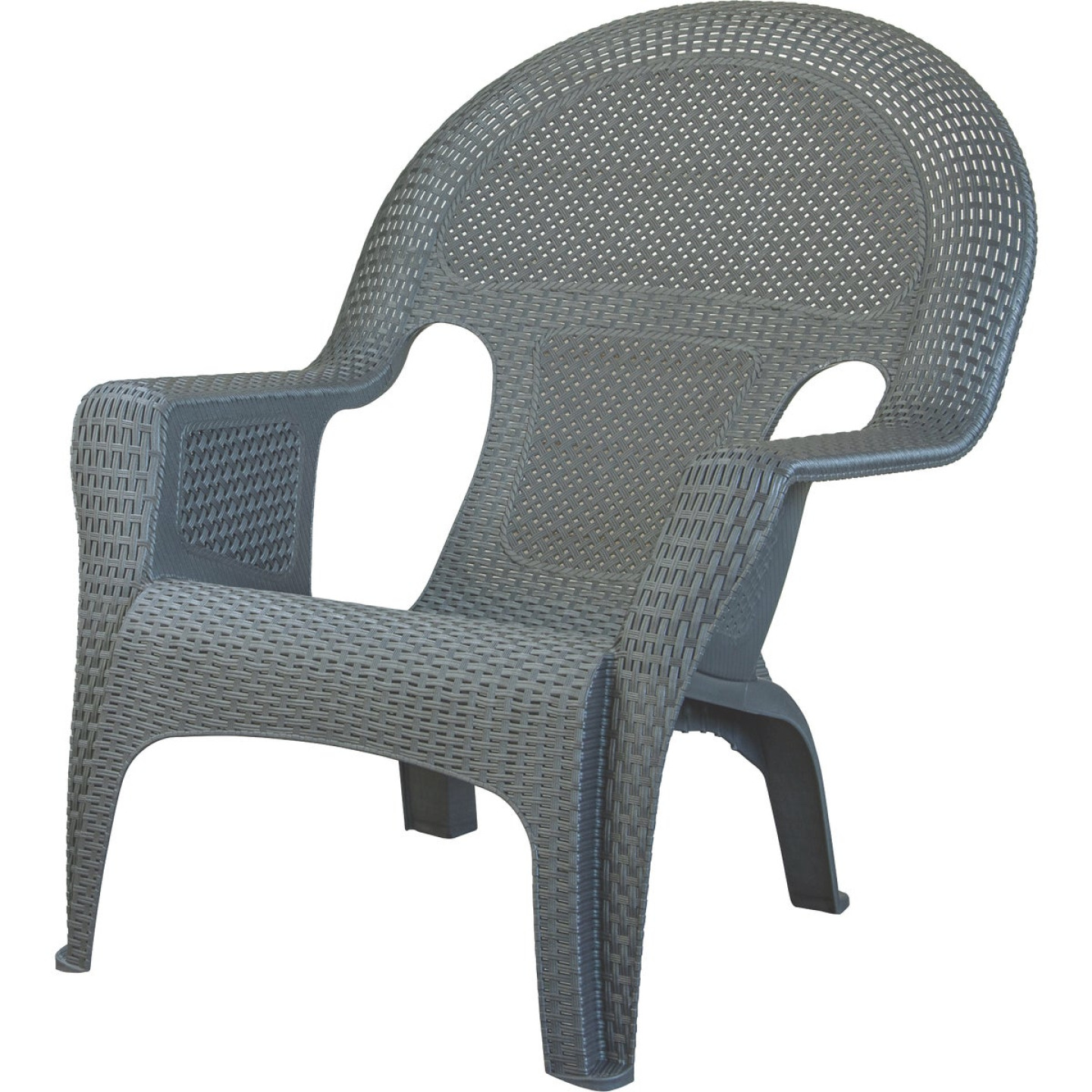 Adams Gray Woven Poly Lounge Chair Image 1