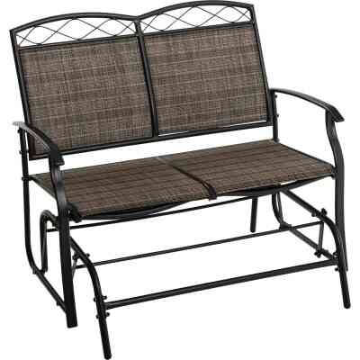 Outdoor Expressions Windsor Collection Black & Gray Steel Double Glider
